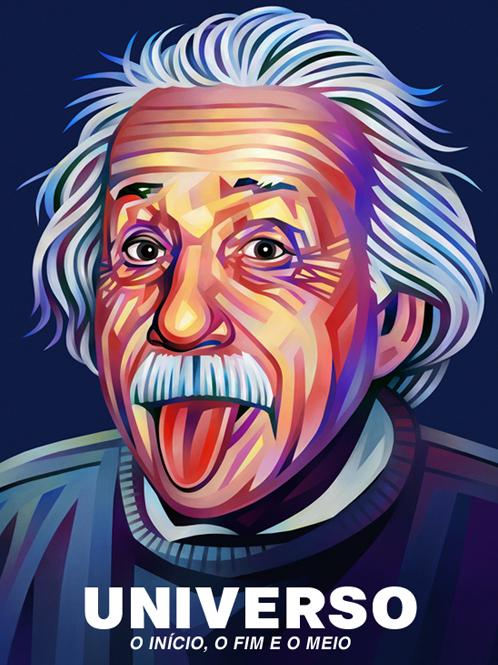 Albert Einstein Portrait Illustration