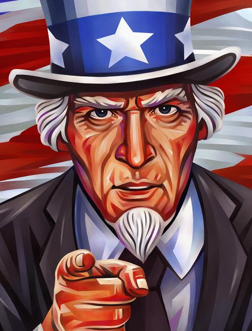Uncle Sam Portrait Illustration