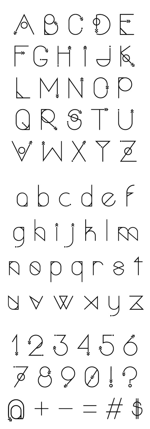 Polar Vertex Free Typeface