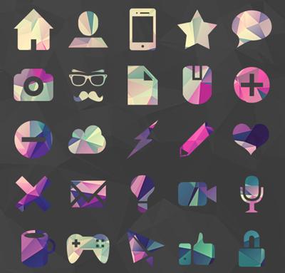 Polygon Icons PSD files