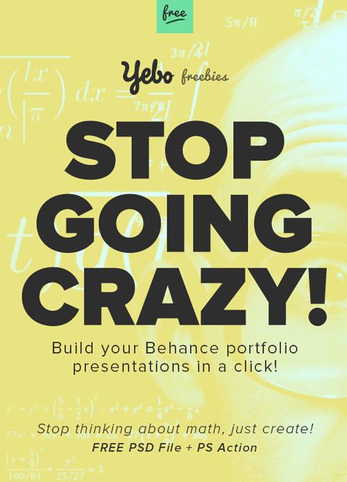 Free Behance Presentation Builder PSD files