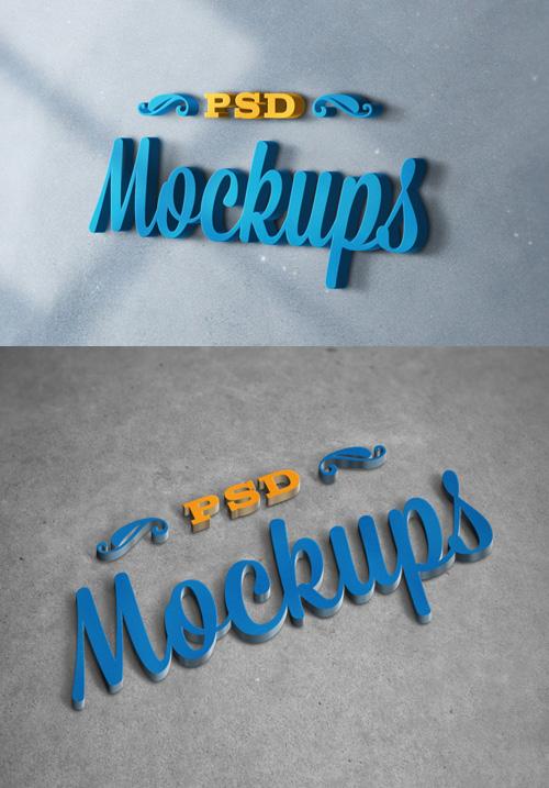 3D Logo Mock-ups PSD files