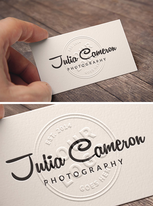 Embossed Business Card MockUp PSD files