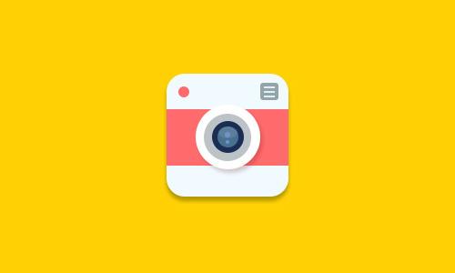 Flat Camera Icon PSD files