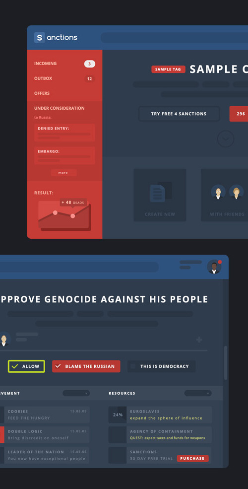 Sanctions GUI PSD Dashboard PSD files
