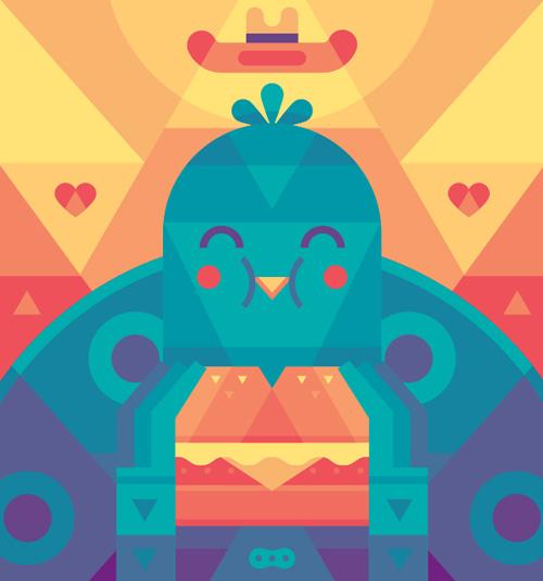 Create a Cute Bird With Geometric Shapes in Adobe Illustrator