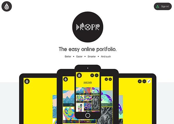 Dropr: The easy online portfolio