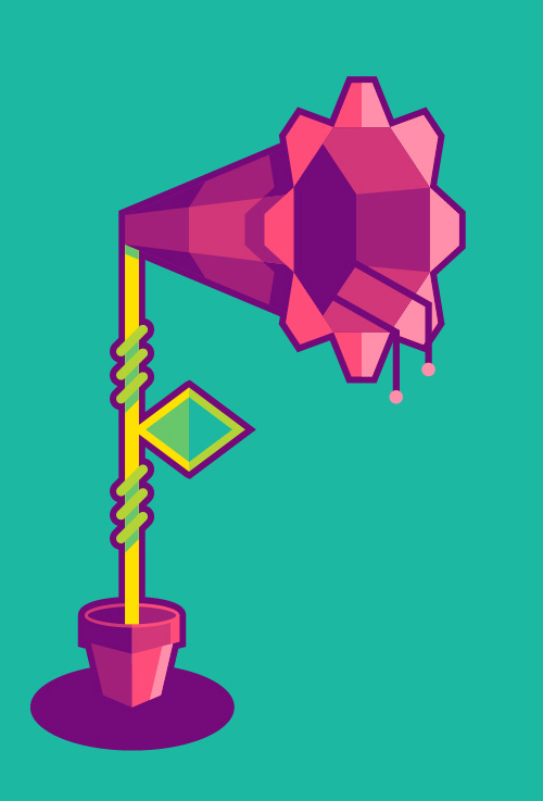 How to Design a Flower in a Geometric Style