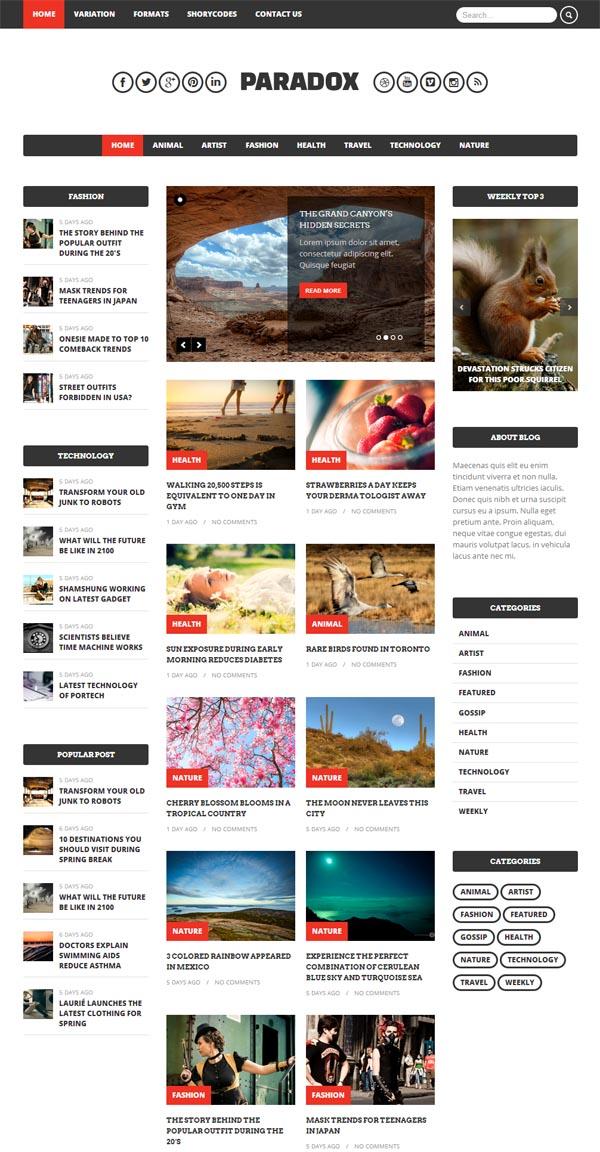 Paradox - Premium WordPress Magazine