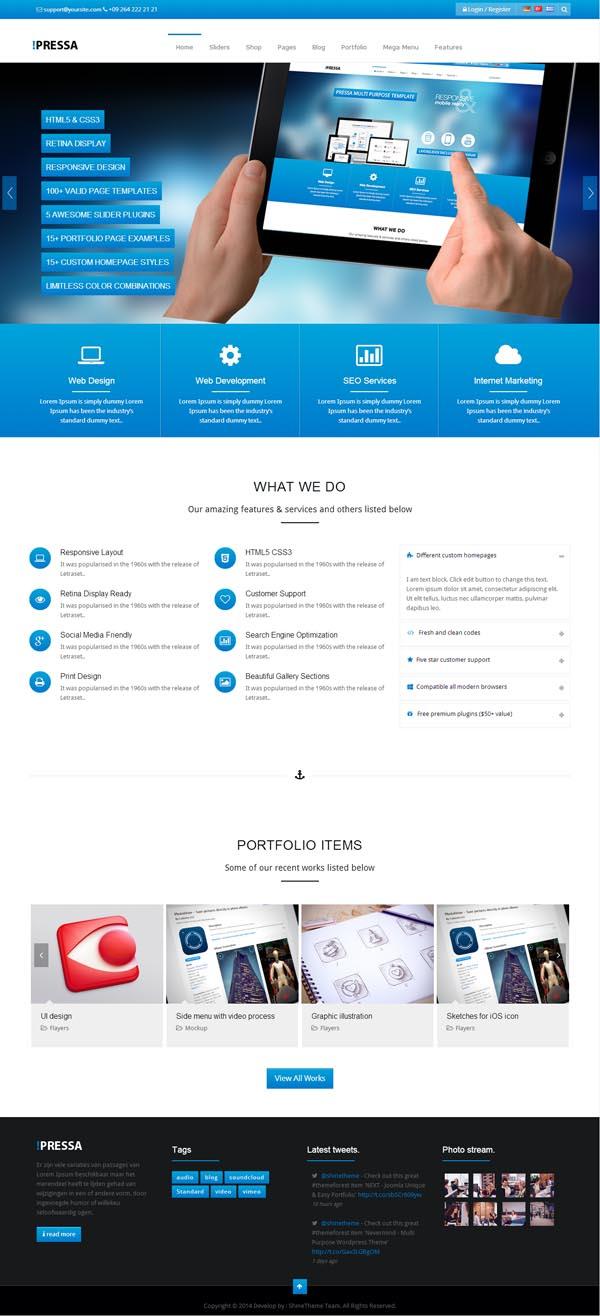 PRESSA – Multi Purpose WordPress Theme