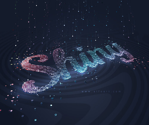 How to Create Very Shiny Glitter 3D Text Effect in Photoshop Tutorial
