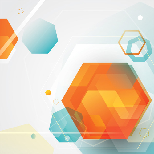 Blending Polygon Shapes Vector Graphic