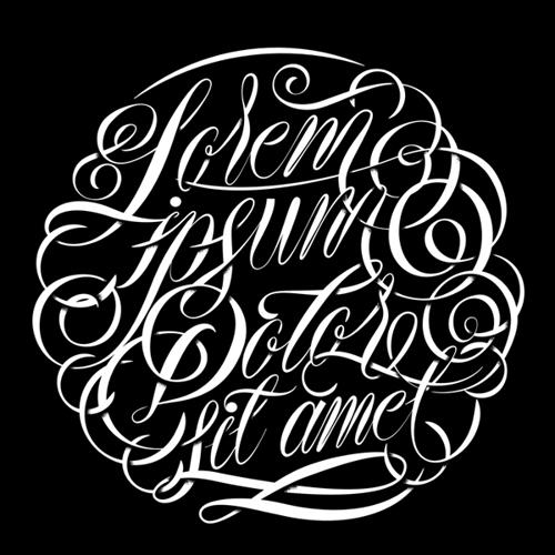 Lorem Ipsum typography by Alan Guzman