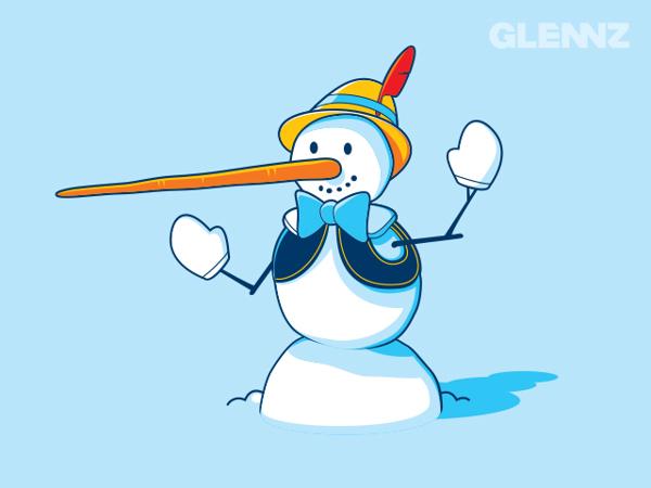 Snow Pinocchio T-Shirt Illustrations