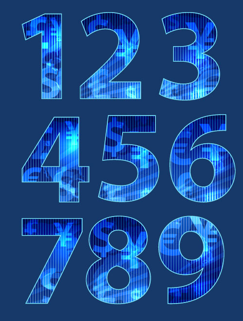 How to Create Numbers with Random Texture Text Effect Photoshop