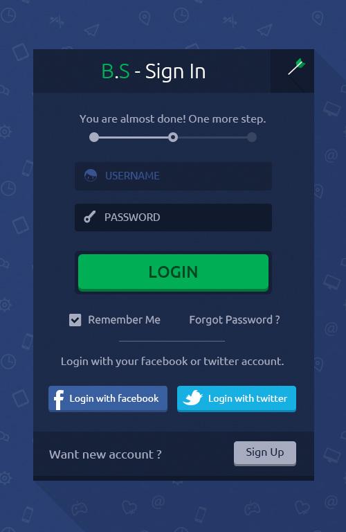Modern Sign UP / Login Forms UI Designs-19