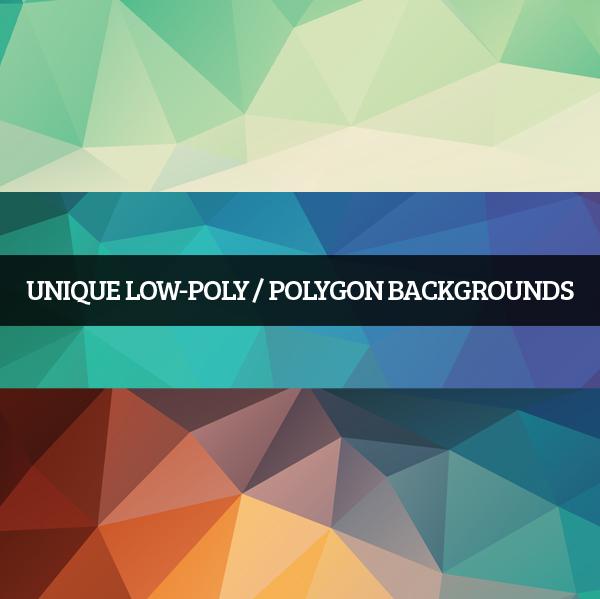 Unique Low-poly / Polygon Backgrounds