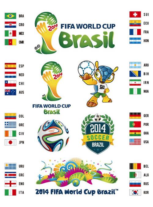 2014 Brazil World Cup Vector Set