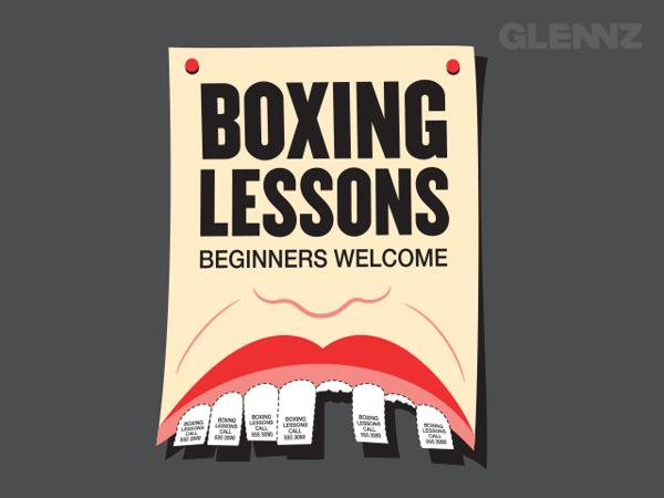 Boxing Lessons T-Shirt Illustrations