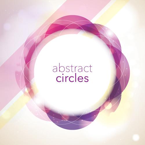 Abstract Circles Vector Graphic