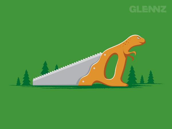 Dinosaw T-Shirt Illustrations