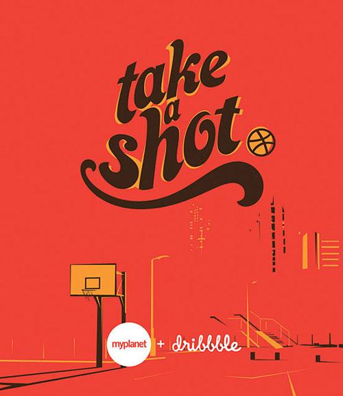 Take A Shot typography by Amit Jakhu