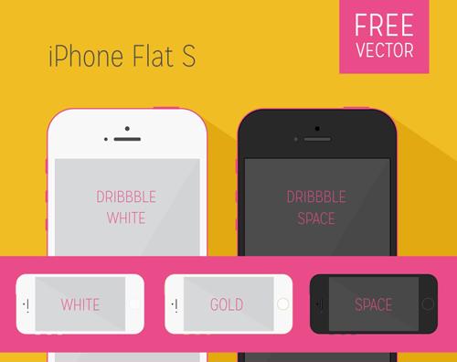 iPhone Flat S – Vectors