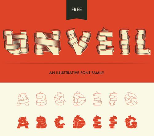 Unveil Free Vector Font
