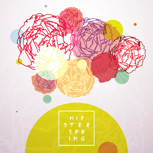 Hipster Spring Vector Graphic