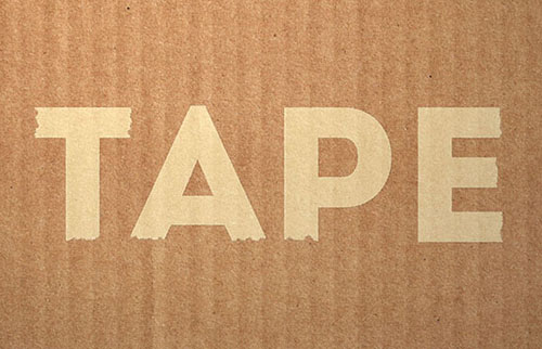 Create Simple Masking Tape Text Effect Photoshop Tutorial