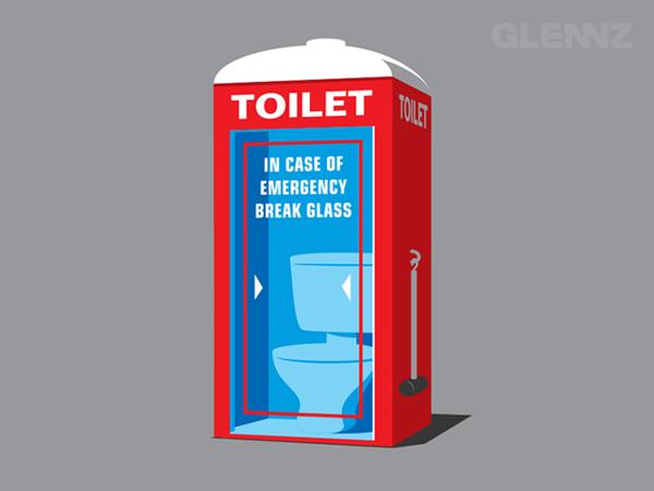 Emergency Toilet T-Shirt Illustrations