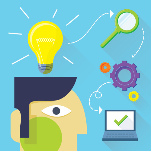Develop Your Idea Vector Graphic