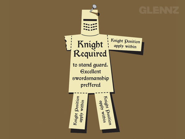 Knight Required T-Shirt Illustrations