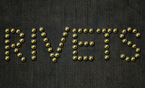 How to Create Metallic Rivets on Denim Text Effect Photoshop Tutorial