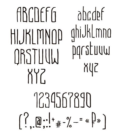 Beryozki free fonts characters