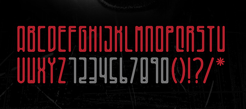 Bizarre font glyphs