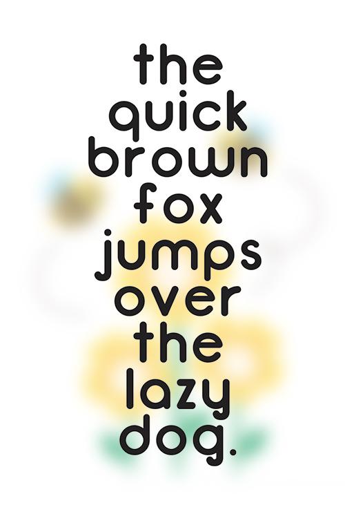 Bumblebee Typeface font glyphs