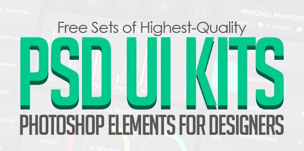 19 Free Photoshop UI Elements & PSD UI Kits for Designers