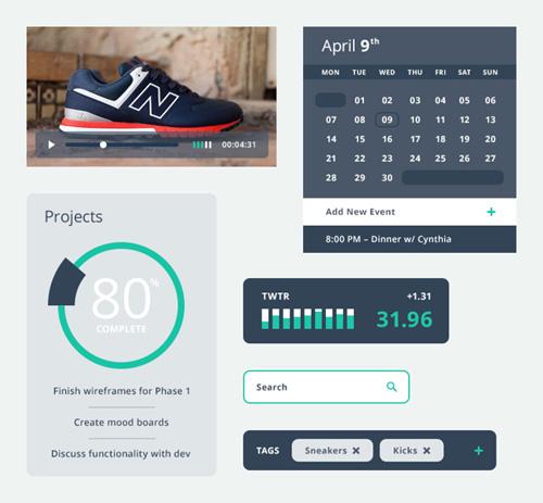 Kicks UI Kit - Free PSD