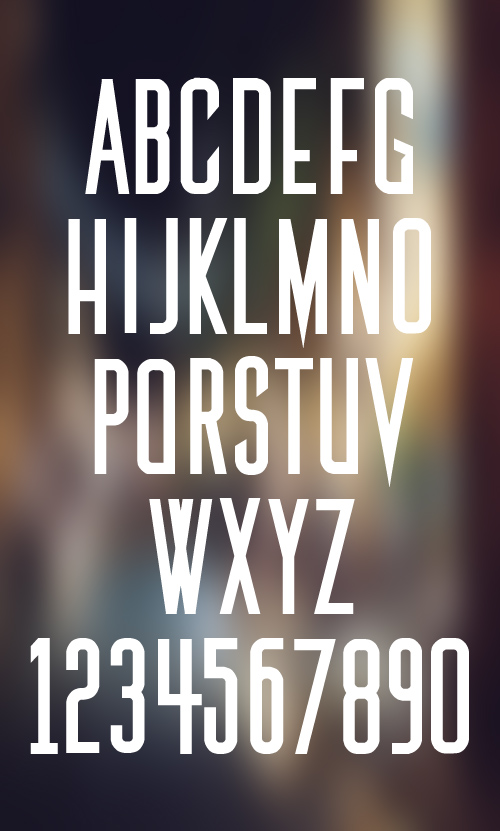 The Medic font glyphs
