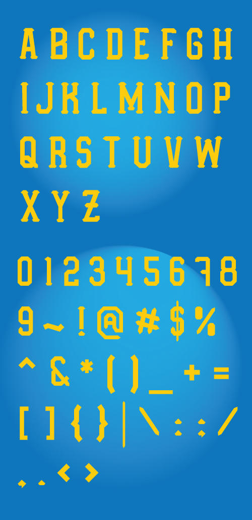 Orlando Typeface font glyphs