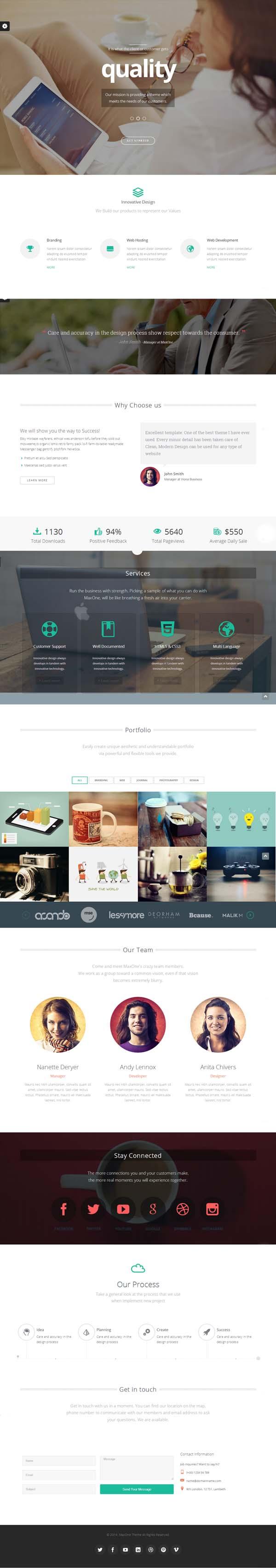 Maxone – Creative One Page Multi-Purpose Theme