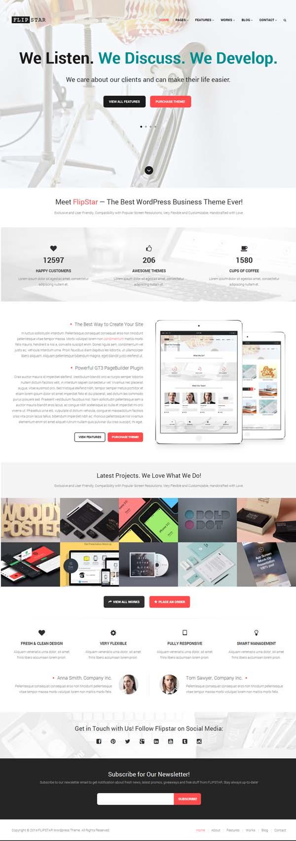 Flipstar Creative Business WordPress Theme