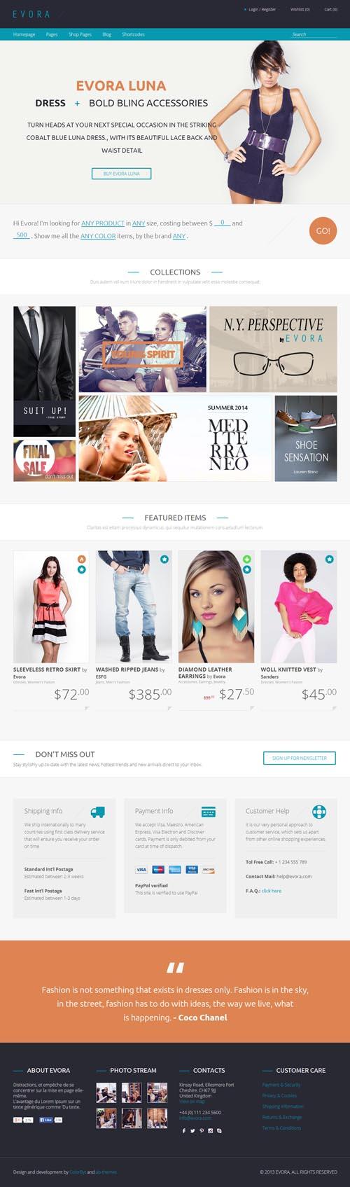 Evora - Responsive e-Commerce Theme
