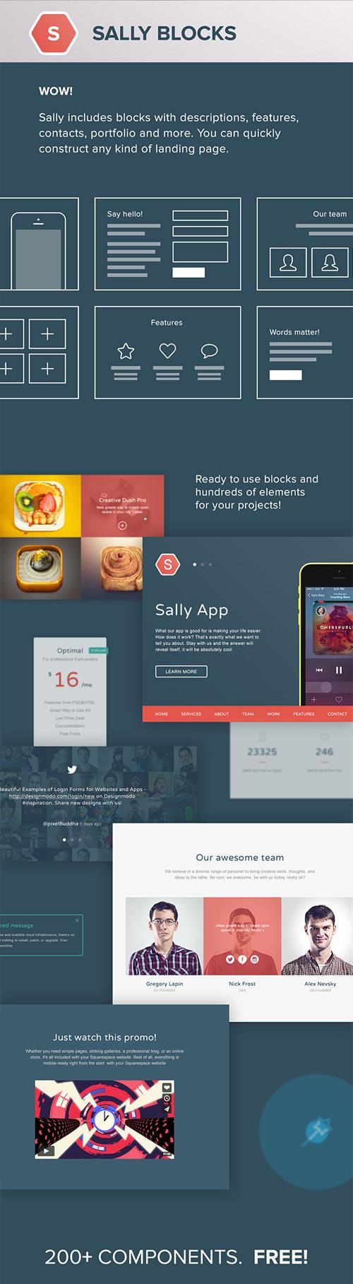 Sally Blocks UI Elements