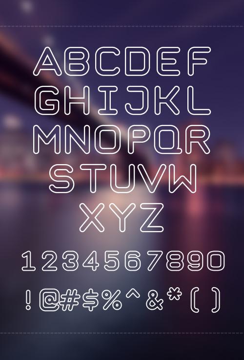 Taurus Mono free font characters
