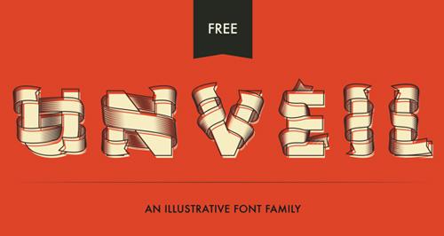 Unveil font free download