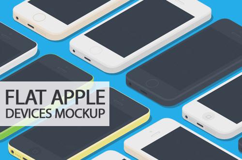 Flat Apple Devices Mockup