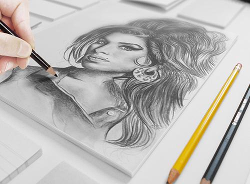 Artistic Sketch Mock-up