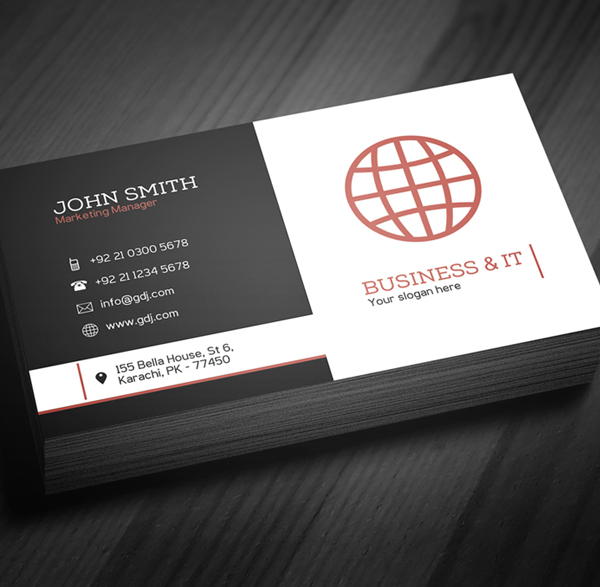 Corporate Business Card Template PSD -  3